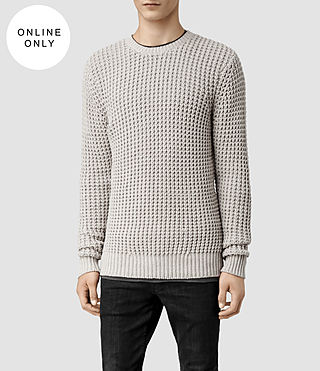 Men's Rok Crew Jumper (Pewter Marl) -
