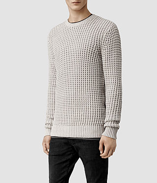 Men's Rok Crew Jumper (Pewter Marl) - product_image_alt_text_2