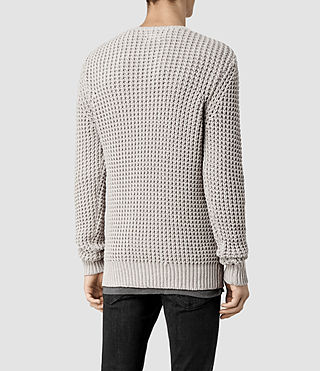 Men's Rok Crew Jumper (Pewter Marl) - product_image_alt_text_3