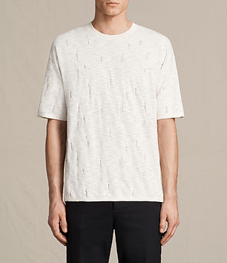 Mens Emms Crew Knitted T-Shirt (ECRU WHITE)