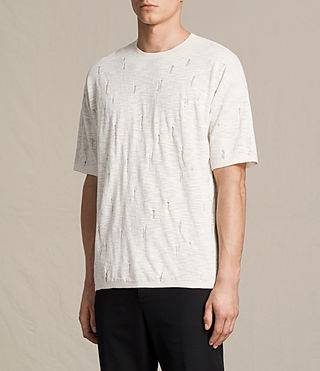Men's Emms Crew Knitted T-Shirt (ECRU WHITE) - product_image_alt_text_3