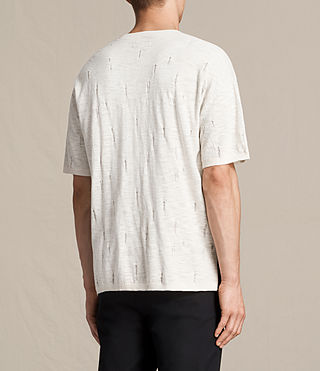 Hombre Emms Crew Knitted T-Shirt (ECRU WHITE) - product_image_alt_text_4