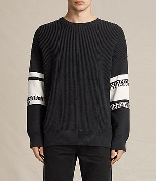 Hombres Svbversion Crew Jumper (Cinder Black Marl)