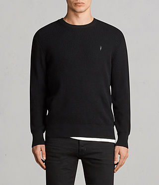 Men's Mert Crew Jumper (Black) - Image 1