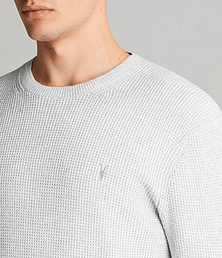 Men's Mert Crew Jumper (MARCH GREY MARL) - Image 2