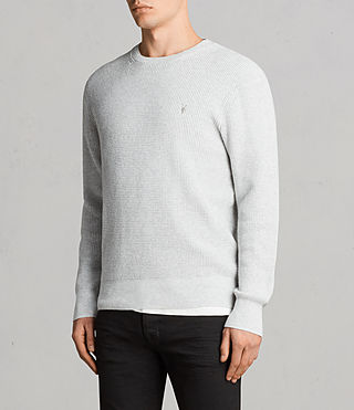 Men's Mert Crew Jumper (MARCH GREY MARL) - Image 3