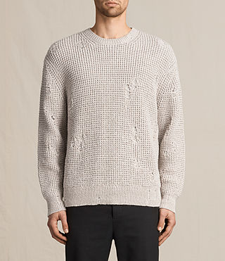 Men's Vektarr Crew Jumper (Marble Grey) -