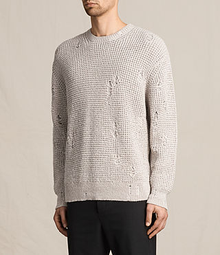 Hombre Vektarr Crew Sweater (Marble Grey) - product_image_alt_text_3
