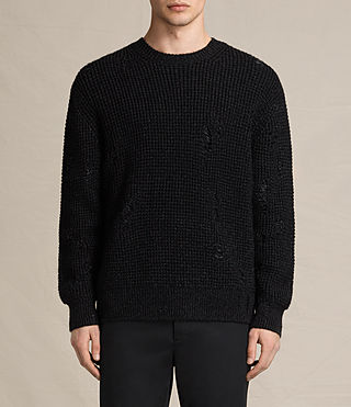 Mens Vektarr Crew Sweater (Black) - product_image_alt_text_1