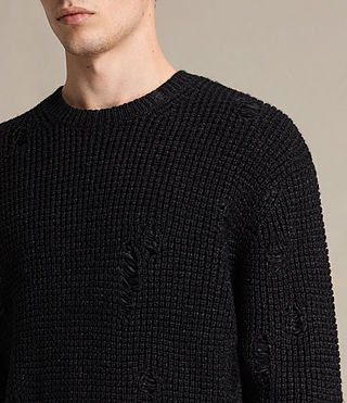 Mens Vektarr Crew Sweater (Black) - product_image_alt_text_2