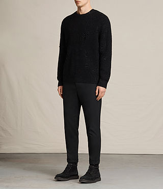 Mens Vektarr Crew Sweater (Black) - product_image_alt_text_3