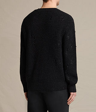 Mens Vektarr Crew Sweater (Black) - product_image_alt_text_4