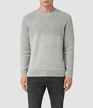 Mens Garr Crew Sweater (Grey Marl) - product_image_alt_text_1