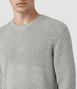 Mens Garr Crew Sweater (Grey Marl) - product_image_alt_text_2