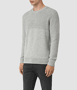 Mens Garr Crew Sweater (Grey Marl) - product_image_alt_text_3