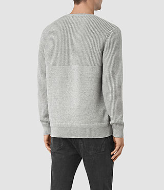 Mens Garr Crew Sweater (Grey Marl) - product_image_alt_text_4