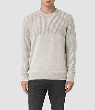 Mens Garr Crew Sweater (Taupe Marl)
