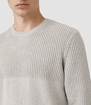 Mens Garr Crew Sweater (Taupe Marl) - product_image_alt_text_2