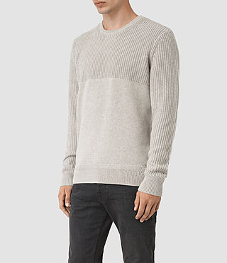 Men's Garr Crew Jumper (Taupe Marl) - product_image_alt_text_3