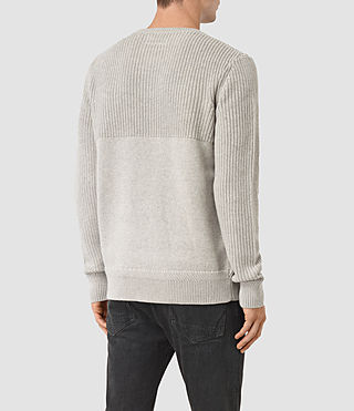Men's Garr Crew Jumper (Taupe Marl) - product_image_alt_text_4