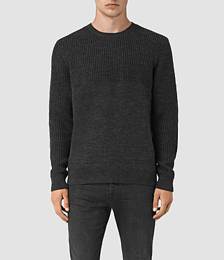 Mens Garr Crew Sweater (Cinder Black Marl) - product_image_alt_text_1