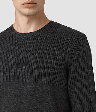 Mens Garr Crew Sweater (Cinder Black Marl) - product_image_alt_text_2