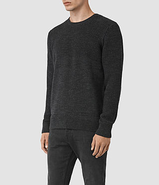 Mens Garr Crew Sweater (Cinder Black Marl) - product_image_alt_text_3