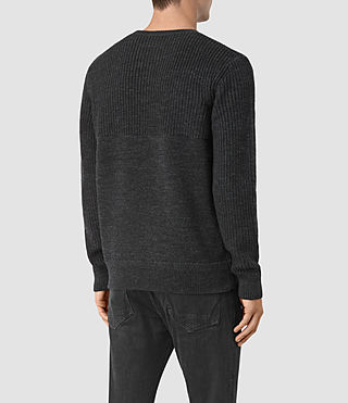 Mens Garr Crew Sweater (Cinder Black Marl) - product_image_alt_text_4