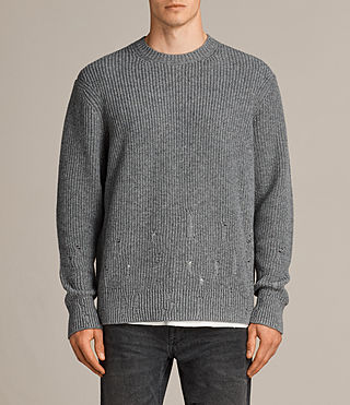 Mens Ivann Crew Sweater (Grey Marl) - product_image_alt_text_1