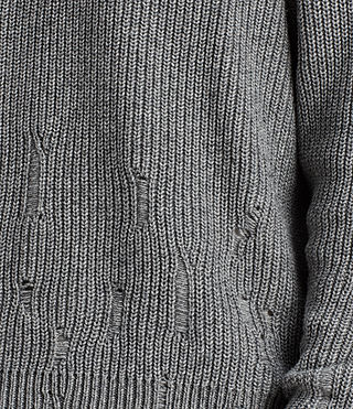 Mens Ivann Crew Sweater (Grey Marl) - product_image_alt_text_2