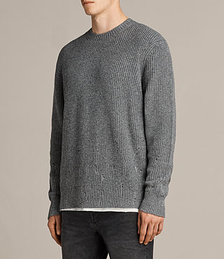 Mens Ivann Crew Sweater (Grey Marl) - product_image_alt_text_3