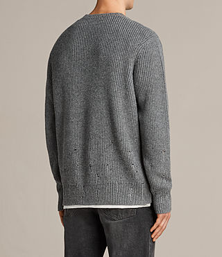 Mens Ivann Crew Sweater (Grey Marl) - product_image_alt_text_4