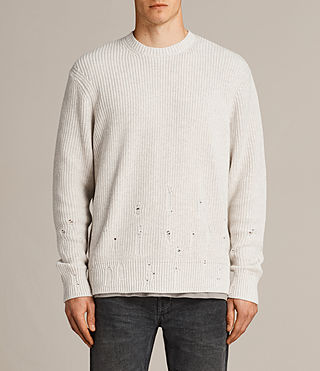 Mens Ivann Crew Sweater (ECRU WHITE) - product_image_alt_text_1