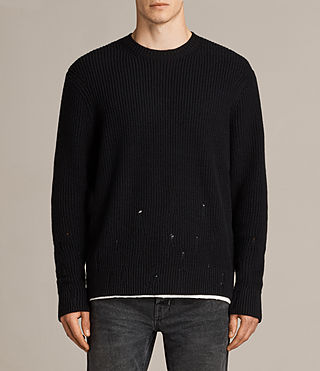 Men's Ivann Crew Jumper (Black) - Image 1