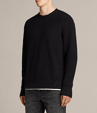 Men's Ivann Crew Jumper (Black) - Image 3