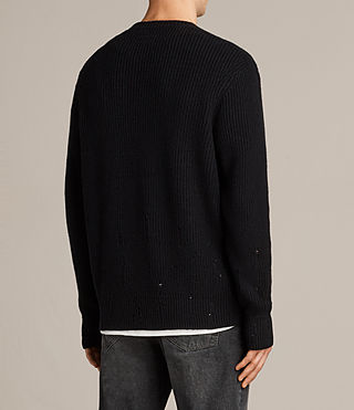 Men's Ivann Crew Jumper (Black) - Image 4
