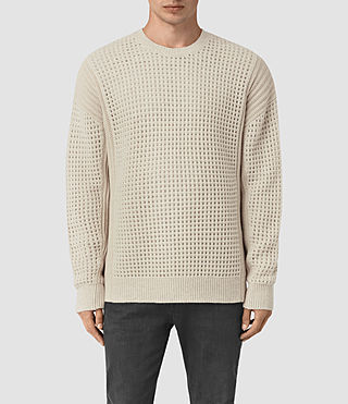 Mens Iden Crew Sweater (Ecru Taupe Marl) - product_image_alt_text_1