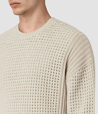 Mens Iden Crew Sweater (Ecru Taupe Marl) - product_image_alt_text_2