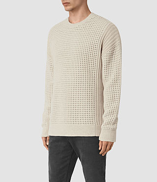 Mens Iden Crew Sweater (Ecru Taupe Marl) - product_image_alt_text_3