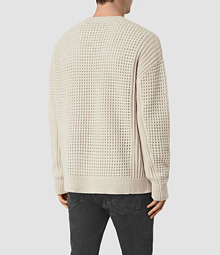 Mens Iden Crew Sweater (Ecru Taupe Marl) - product_image_alt_text_4