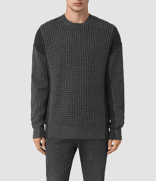 Mens Iden Crew Sweater (Charcoal Marl)
