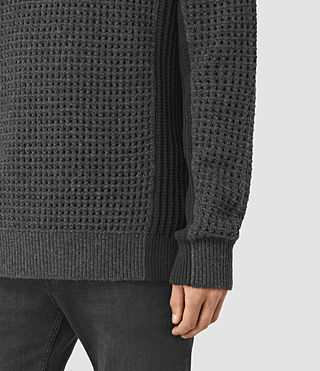 Men's Iden Crew Jumper (Charcoal Marl) - product_image_alt_text_2
