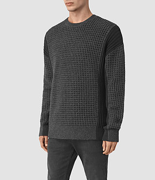 Mens Iden Crew Sweater (Charcoal Marl) - product_image_alt_text_3