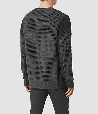 Mens Iden Crew Sweater (Charcoal Marl) - product_image_alt_text_4
