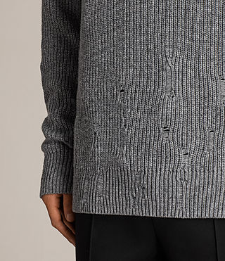 Mens Ivann Funnel Sweater (Grey Marl) - Image 2