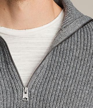Men's Ivann Funnel Jumper (Grey Marl) - product_image_alt_text_3