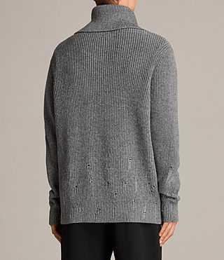 Mens Ivann Funnel Sweater (Grey Marl) - Image 5