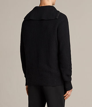 Mens Ivann Funnel Sweater (Black) - product_image_alt_text_6