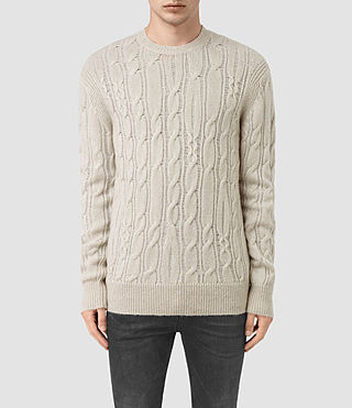 Men's Kendrikk Crew Jumper (Smoke Grey Marl)