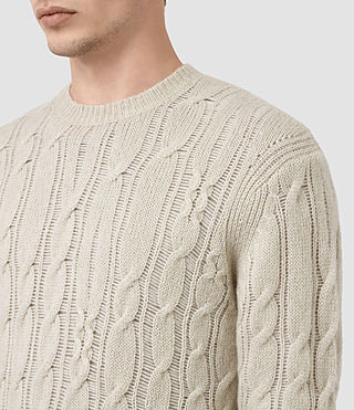 Mens Kendrikk Crew Sweater (Smoke Grey Marl) - product_image_alt_text_2